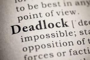 Deadlock tijdens een onderhandeling